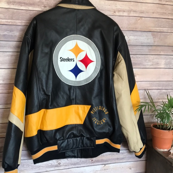 various colors acf11 ab961 Pittsburgh Steelers | leather men's sports coat